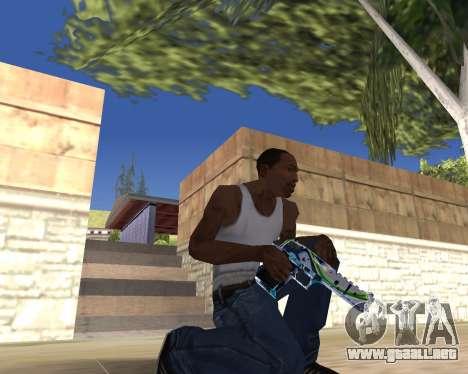 Graffity weapons para GTA San Andreas quinta pantalla