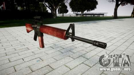 El rifle M16A2 [óptica] rojo para GTA 4
