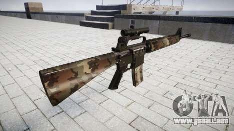El rifle M16A2 [óptica] erdl para GTA 4 segundos de pantalla