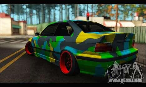BMW M3 E36 Camo Style para GTA San Andreas left