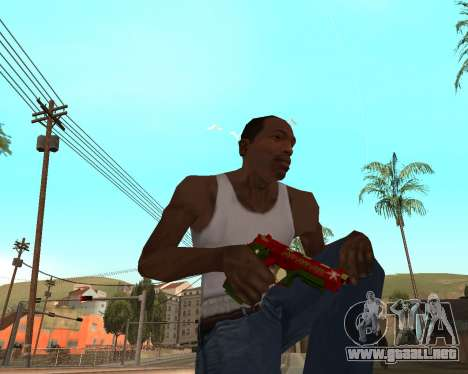 Año nuevo arma pack v2 para GTA San Andreas sexta pantalla