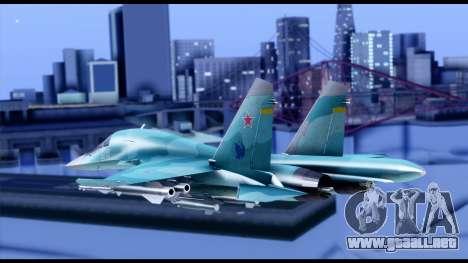SU-34 Fullback para GTA San Andreas left