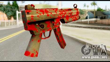 MP5 with Blood para GTA San Andreas segunda pantalla
