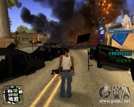 C-HUD Old Rifa para GTA San Andreas sucesivamente de pantalla