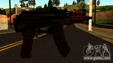 Oscuro AKS-74U v2 para GTA San Andreas segunda pantalla