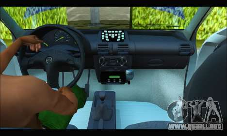 Chevrolet Corsa Policia Bonaerense para visión interna GTA San Andreas