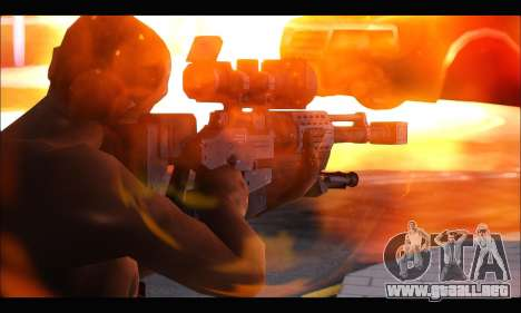 Raab KM50 Sniper Rifle From F.E.A.R. 2 para GTA San Andreas segunda pantalla