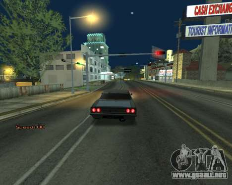 Car Speed para GTA San Andreas sucesivamente de pantalla