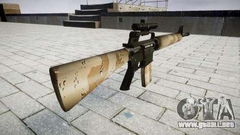 El rifle M16A2 [óptica] nevada para GTA 4 segundos de pantalla