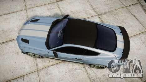 Ford Mustang GT 2015 Custom Kit gray stripes para GTA 4 visión correcta