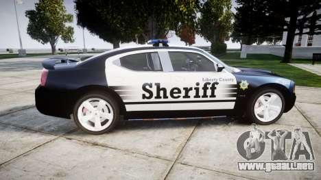 Dodge Charger SRT8 2010 Sheriff [ELS] para GTA 4 left