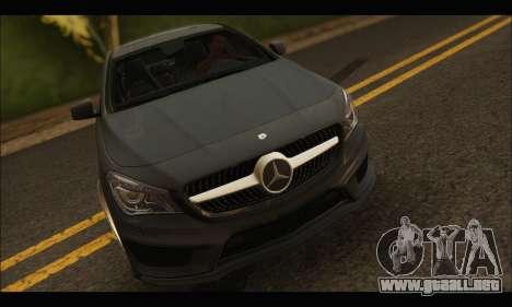 Mercedes Benz CLA 250 2014 para GTA San Andreas vista hacia atrás