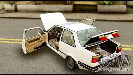 Volkswagen Jetta A2 Coupe para GTA San Andreas vista hacia atrás