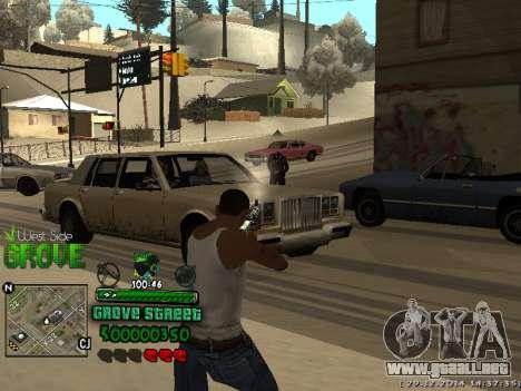 C-HUD Grove Street para GTA San Andreas sucesivamente de pantalla