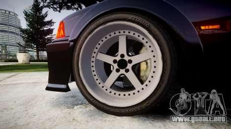 BMW E36 M3 Duck Edition para GTA 4 vista hacia atrás