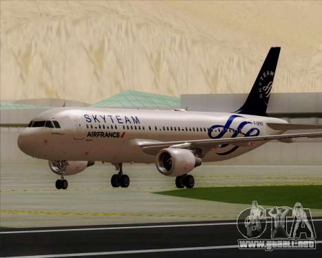 Airbus A320-200 Air France Skyteam Livery para GTA San Andreas left