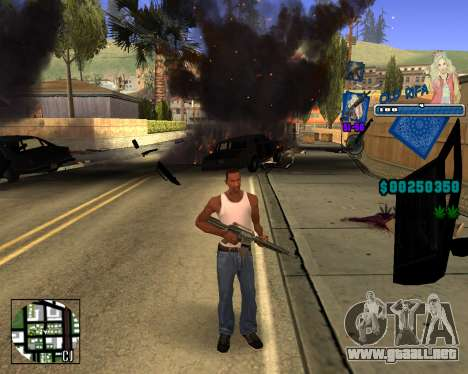 C-HUD Old Rifa para GTA San Andreas tercera pantalla