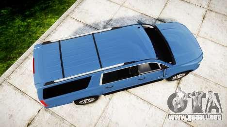Chevrolet Suburban 2015 para GTA 4 visión correcta