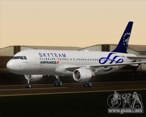 Airbus A320-200 Air France Skyteam Livery para la vista superior GTA San Andreas