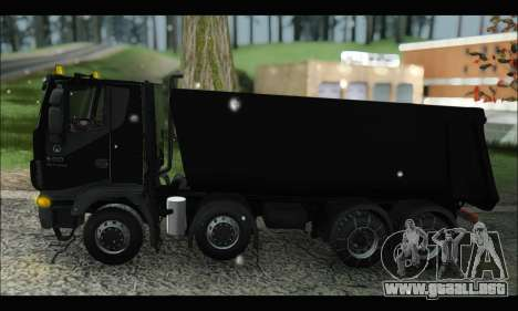 Iveco Trakker 2014 Tipper Snow (IVF & ADD) para GTA San Andreas left