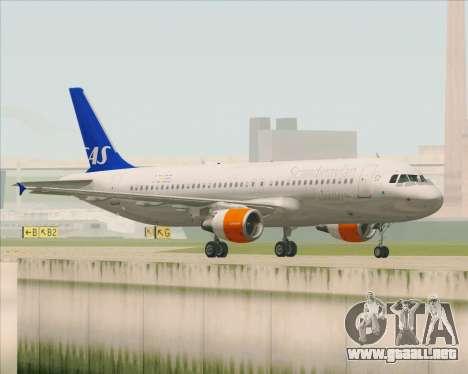 Airbus A320-200 Scandinavian Airlines - SAS para la visión correcta GTA San Andreas