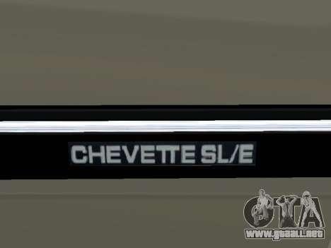 Chevrolet Chevette Hatch para la vista superior GTA San Andreas