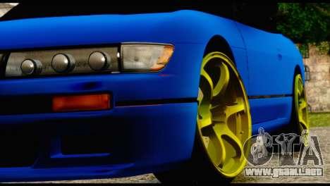 Nissan Silvia S13 Sileighty Drift Moster para GTA San Andreas vista hacia atrás
