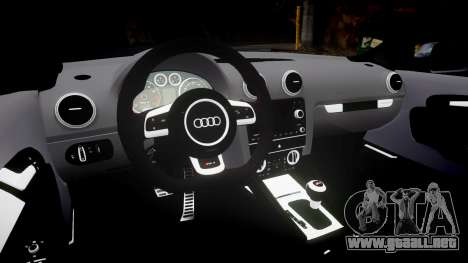 Audi RS3 Stanced para GTA 4 vista hacia atrás