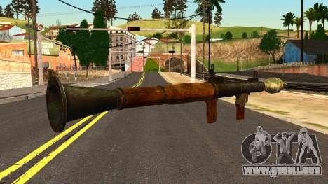 Rocket Launcher from GTA 4 para GTA San Andreas segunda pantalla