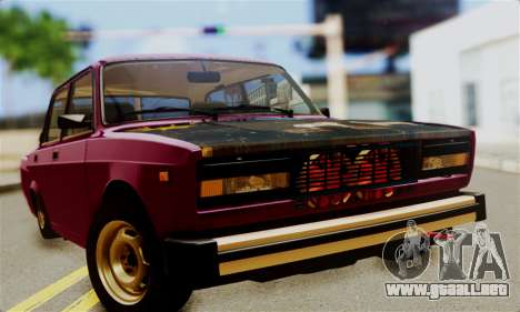 VAZ 2105 Combate Clásico para la visión correcta GTA San Andreas