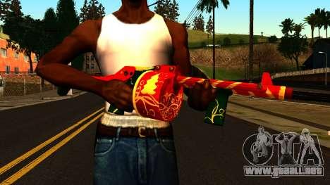 Navidad Escopeta para GTA San Andreas tercera pantalla