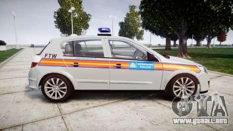 Vauxhall Astra 2010 Police [ELS] Whelen Liberty para GTA 4 left