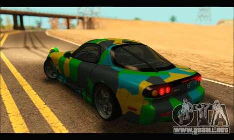Mazda RX-7 Camo para GTA San Andreas left