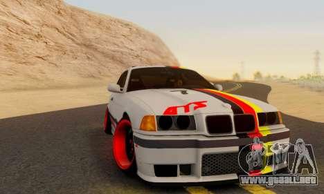 BMW M3 E36 German Style para GTA San Andreas vista posterior izquierda