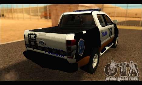 Ford Ranger P.B.A 2015 Text3 para GTA San Andreas left