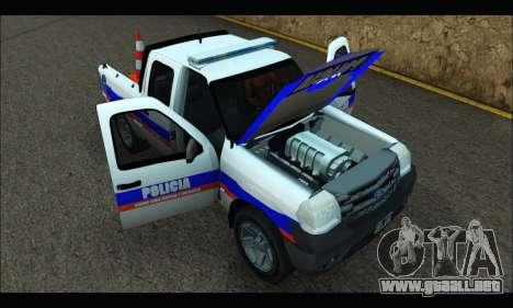 Ford Ranger 2011 Patrulleros CPC para la visión correcta GTA San Andreas