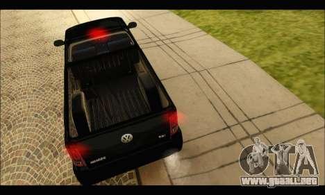 Volkswagen Amarok Cabina Simple para la visión correcta GTA San Andreas
