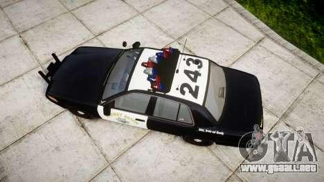 Ford Crown Victoria Highway Patrol [ELS] Vision para GTA 4 visión correcta