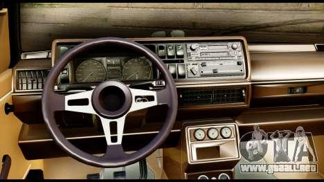 Volkswagen Jetta A2 Coupe para GTA San Andreas vista posterior izquierda