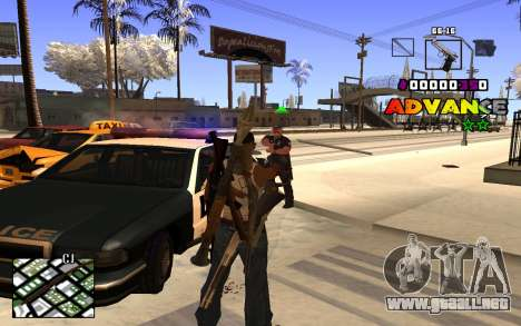 C-HUD Advance RP para GTA San Andreas segunda pantalla