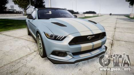 Ford Mustang GT 2015 Custom Kit gray stripes para GTA 4