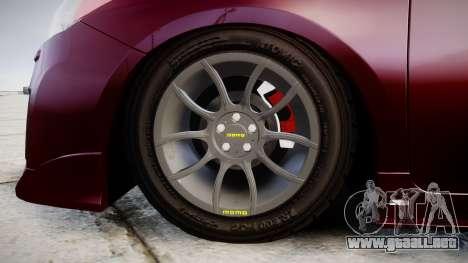 Toyota Prius para GTA 4 vista hacia atrás
