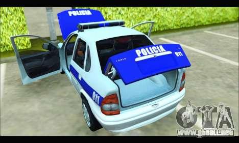 Chevrolet Corsa Policia Bonaerense para la visión correcta GTA San Andreas