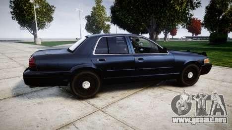 Ford Crown Victoria Police Interceptor [Retired] para GTA 4 left