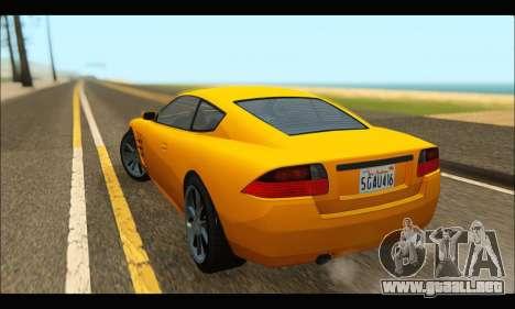 Ocelot  F620 (GTA V) para GTA San Andreas vista posterior izquierda