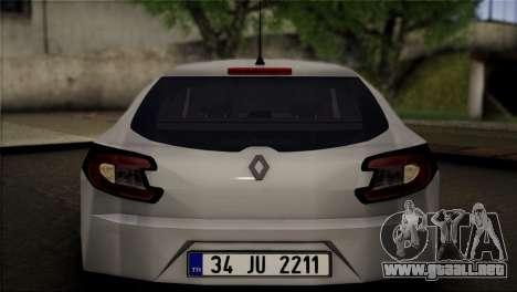 Renault Megane Sport Tourer 1.5 DCI 2011 para la visión correcta GTA San Andreas