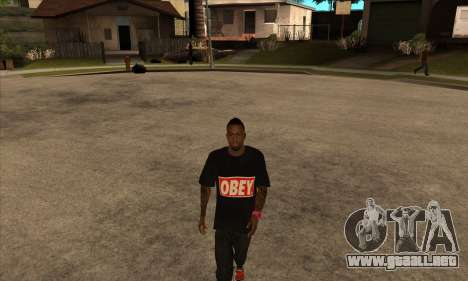 Obey Nigga para GTA San Andreas segunda pantalla