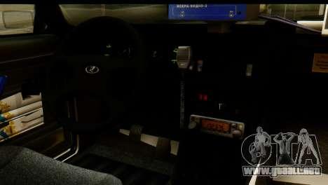 VAZ 2107 DPS para GTA San Andreas vista hacia atrás
