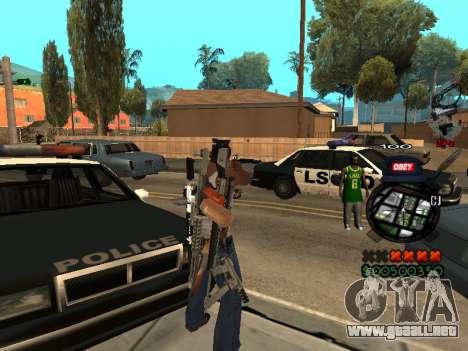 C-HUD Sweet para GTA San Andreas segunda pantalla