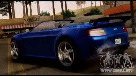 GTA 5 Dewbauchee Rapid GT Cabrio [HQLM] para GTA San Andreas vista posterior izquierda